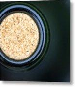 Macro Closeup Wine Bottle Cork Metal Print
