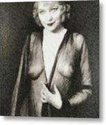 Mae West, Vintage Actress Metal Print