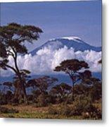 Majestic Mount Kilimanjaro Metal Print