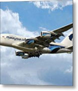 Malaysia Airlines Airbus A380 Metal Print