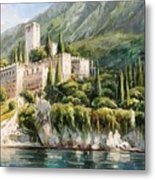 Malcesine Castle, Lago Di Garda Metal Print