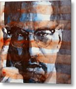 Malcolmx Metal Print by Paul Lovering