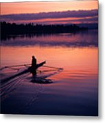 Man Rowing On Montlake Cut Metal Print