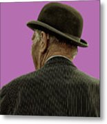 Man With A Bowler Hat Metal Print
