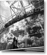 Manchester United Old Trafford Stadium Uk Metal Print