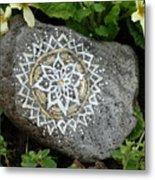 Mandala Stone  Metal Print