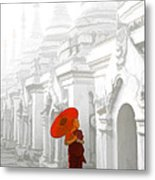 Mandalay Monk Metal Print