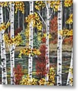 Manitoba Birch  Metal Print by Lynn Huttinga