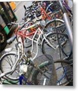 Many Bikes Metal Print
