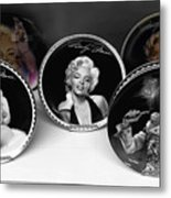 Marilyn And Elvis Metal Print by Daniel Hagerman
