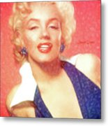 Marilyn Monroe - Pencil Style Metal Print