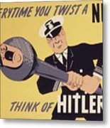 Marine Corps Recruiting Poster From World War Metal Print