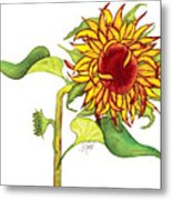 Mari's Sunflower Metal Print