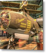 Martin B-26g, Marauder, Shootin In Metal Print