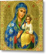 Mary Saint Religious Art Metal Print