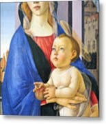 Mary With Baby Jesus Metal Print