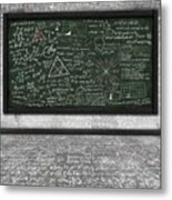 Maths Formula On Chalkboard Metal Print
