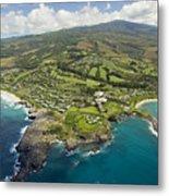 Maui Aerial Of Kapalua Metal Print by Ron Dahlquist - Printscapes