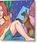 Me And My Cats Metal Print