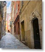 Medieval Street In Villefranche-sur-mer Metal Print