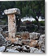 Megalithic Taula In Binisafua Menorca Bronze Age Metal Print