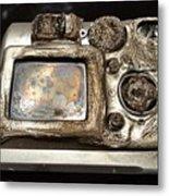 Melted Camera Metal Print