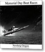 Memorial Day Boat Races Metal Print