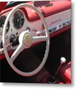 Mercedes 300sl Dashboard Metal Print