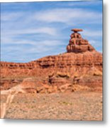 Mexican Hat Rock Monument Landscape On Sunny Day Metal Print
