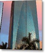 Miami Skyscraper At Sunset Metal Print