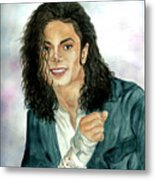 Michael Jackson - Will You Be There Metal Print by Nicole Wang