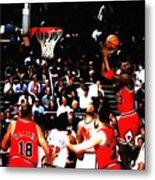 Michael Jordan Soft Touch Metal Print