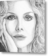 Michelle Pfeiffer Metal Print