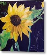 Midday Sunflower Metal Print