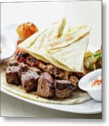 Middle Eastern Food Mixed Bbq Barbecue Grilled Meat Set Meal Metal Print