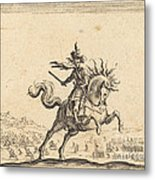 Military Commander On Horseback Metal Print