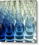 Milk Bottle Line-up Metal Print