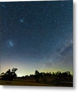 Milky Way And Countryside Metal Print