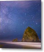 Milky Way Over Canon Beach Metal Print