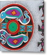 Mimbres Inspired #1a Metal Print