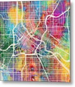 Minneapolis Minnesota City Map Metal Print
