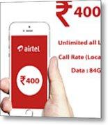Mobile Recharge Online  Online Bill Payment  10digi Metal Print