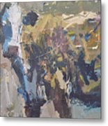 Modern Abstract Cow Painting Metal Print by Robert Joyner