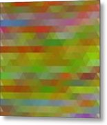 Modern Abstract Mosaic Color Combination 5 Metal Print