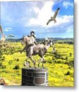 Modern Horse Statue Metal Print