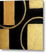 Modern Shapes Gold Metal Print