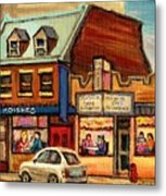 Moishes Steakhouse On The Main Metal Print