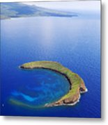 Molokini Aerial Metal Print by Ron Dahlquist - Printscapes