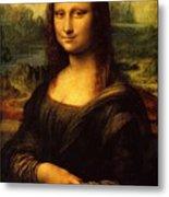 Mona Lisa Portrait Metal Print