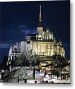 Mont St. Michel At Night Metal Print